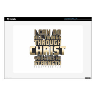 """Phil4:13 I can do All things through Christ Decal For 15"""" Laptop"""