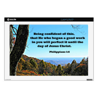 Phil. 1:6 Being confident of this, that he who.. Skins For Laptops