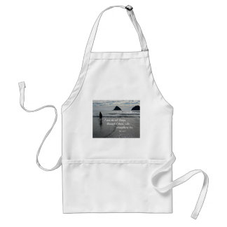 Phil. 4:13 I can do all things through Christ... Adult Apron