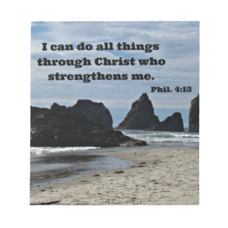 Phil. 4:13 I can do all things through Christ... Memo Pads