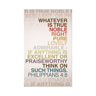 Phil 4:8 Wrapped Canvas 16x24 Gallery Wrap Canvas
