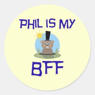 Phil es mi BFF Etiqueta Redonda
