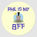 Phil es mi BFF Pegatina Redonda