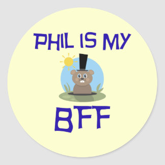 Phil is my BFF Classic Round Sticker