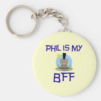 Phil is my BFF Basic Round Button Keychain