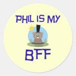 Phil is my BFF Round Sticker
