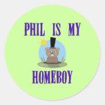 Phil is My Homeboy Round Stickers