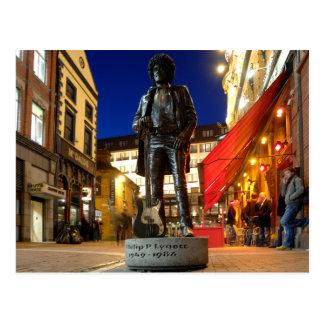 Phil Lynott Sculpture/ Dublin Postcard