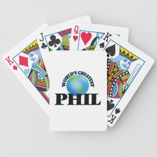 Phil más grande del mundo baraja cartas de poker