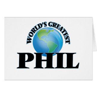 Phil más grande del mundo tarjetón