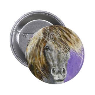 phil, mini caballo pin redondo 5 cm