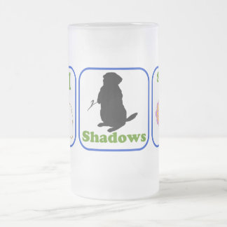Phil, Shadows, Spring 16 Oz Frosted Glass Beer Mug