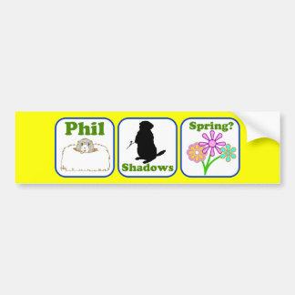 Phil Shadows Spring Car Bumper Sticker