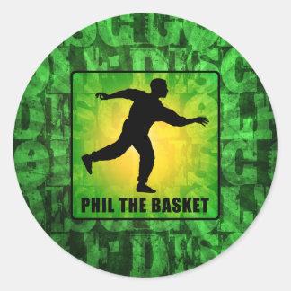 Phil The Basket Classic Round Sticker