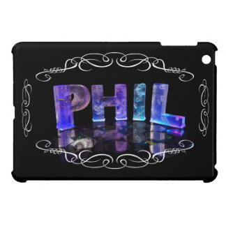 Phil - The Name Phil in 3D Lights Photograph iPad Mini Cover