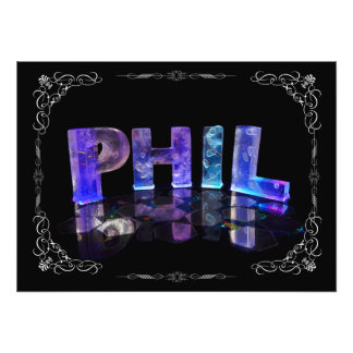 Phil  - The Name Phil in 3D Lights (Photograph)