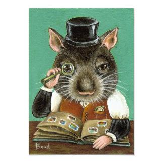Phil the rat 5x7 paper invitation card