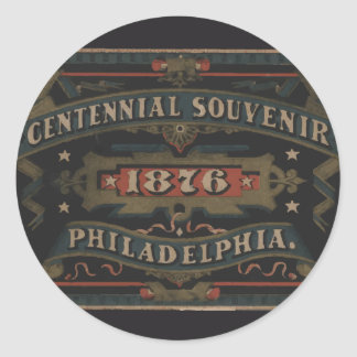 Philadelphia 1876 pennsylvania classic round sticker