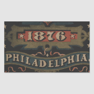Philadelphia 1876 pennsylvania rectangular sticker