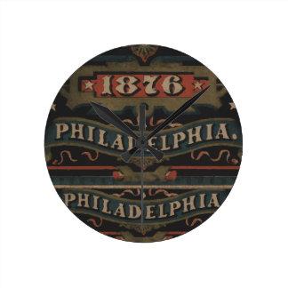 Philadelphia 1876 pennsylvania round clock