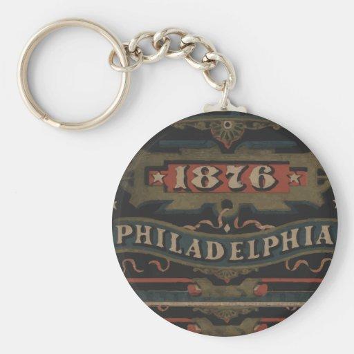 Philadelphia 1876 regalos llavero redondo tipo chapa
