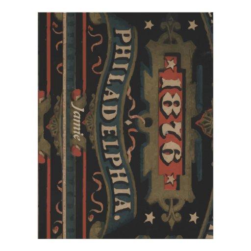 Philadelphia 1876 regalos membretes personalizados
