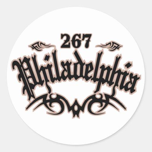 Philadelphia 267 pegatina redonda