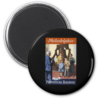 Philadelphia 2 Inch Round Magnet