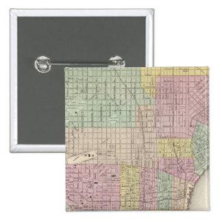 Philadelphia 2 pin cuadrada 5 cm