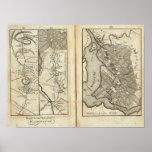 Philadelphia al mapa de camino de Washington 2 Póster