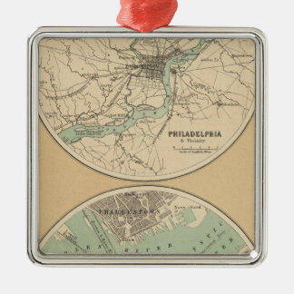 Philadelphia and Boston Ornaments