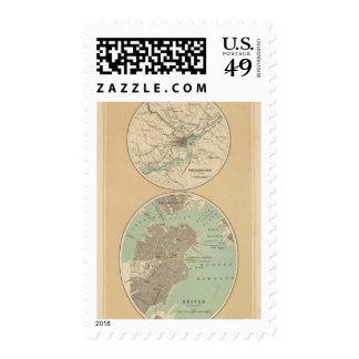 Philadelphia and Boston Postage Stamps