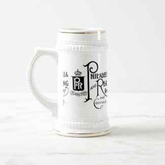Philadelphia and Reading Railroad Logo Beer Stein