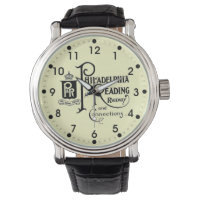 Philadelphia and Reading Railroad Logo Wrist Watch