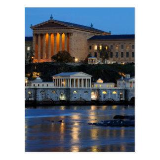 Philadelphia Art Museum and Fairmount Water Works Postcard
