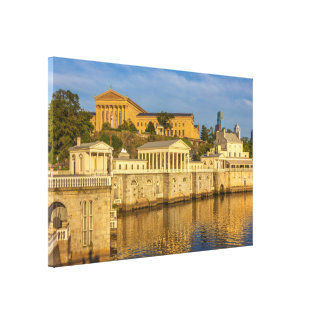 Philadelphia Art Museum and the Water Works Large Canvas Print