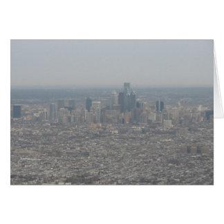 Philadelphia at 30,000 Feet Card
