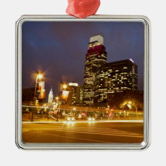 Philadelphia at Dusk Premium Square Ornament