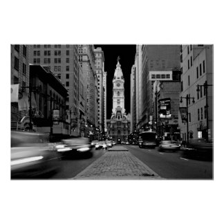 Philadelphia at Night Poster