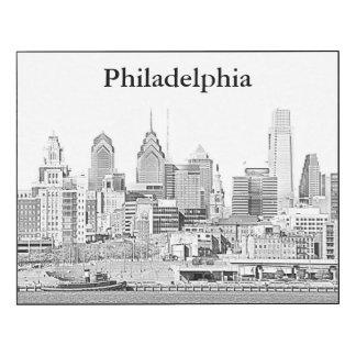 Philadelphia Black and White Sketch Wall Panel