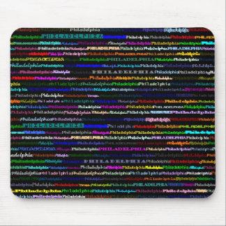 Philadelphia Black Background Mousepad