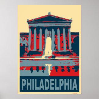 Philadelphia Blue Poster
