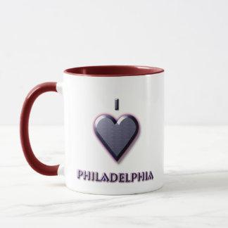 Philadelphia -- Blue with glow Mug