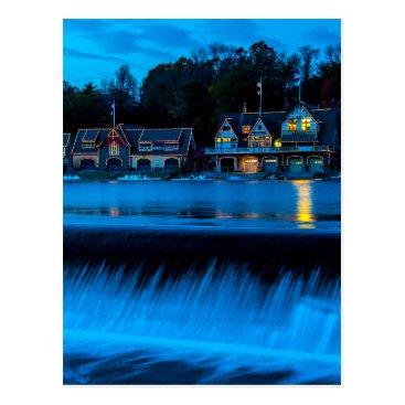 ultimateplaces Philadelphia Boathouse Row At Sunset Postcard