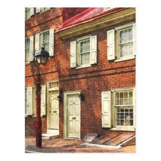 Philadelphia Brownstone Tarjeta Postal