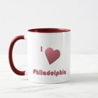 Philadelphia -- Burgundy Mug