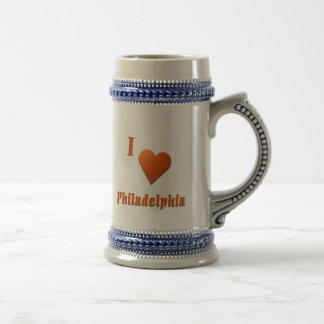 Philadelphia -- Burnt Orange Beer Stein