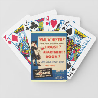 Philadelphia can Help War Workers Find Housing Bicycle Playing Cards