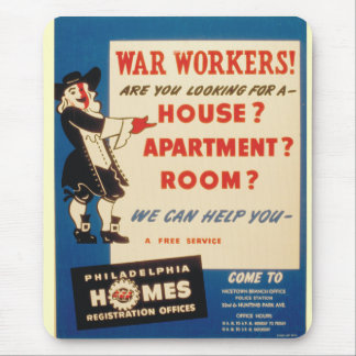 Philadelphia can Help War Workers Find Housing Mouse Pad