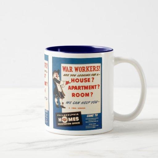 Philadelphia can Help War Workers Find Housing Coffee Mugs